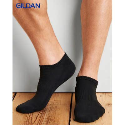 Gildan Platinum Mens No Show Socks Colours